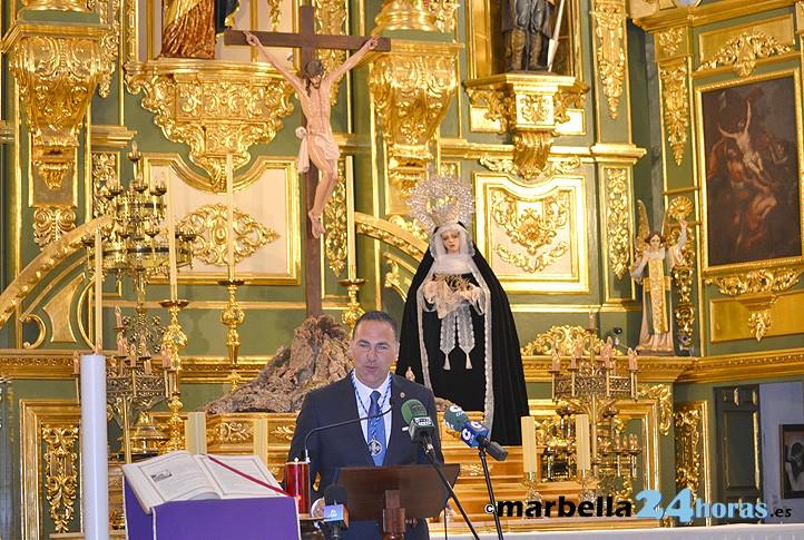 pedro narvez abre la semana santa de marbella con un sentido pregn